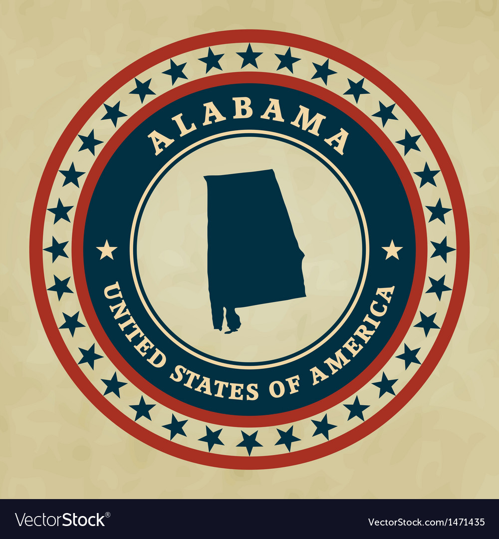 Vintage label alabama vector | Price: 1 Credit (USD $1)