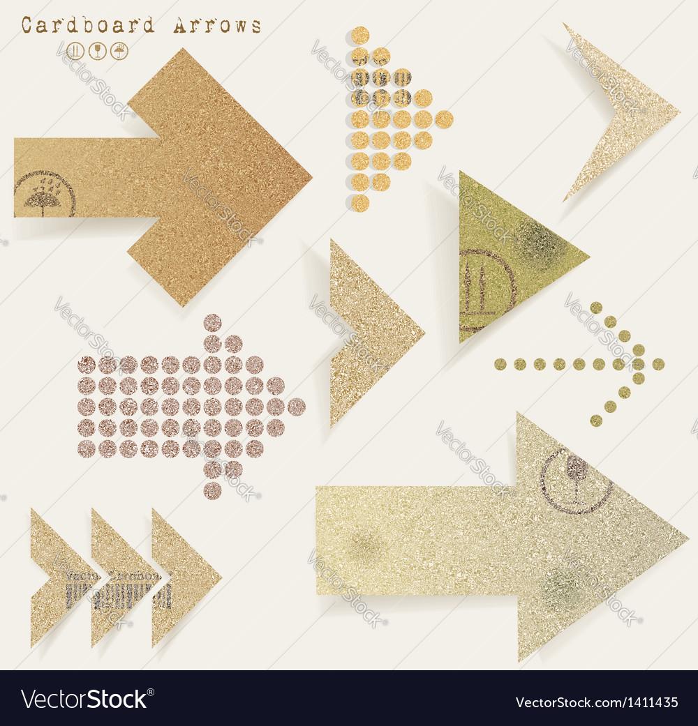 Vintage old paper arrows vector | Price: 1 Credit (USD $1)