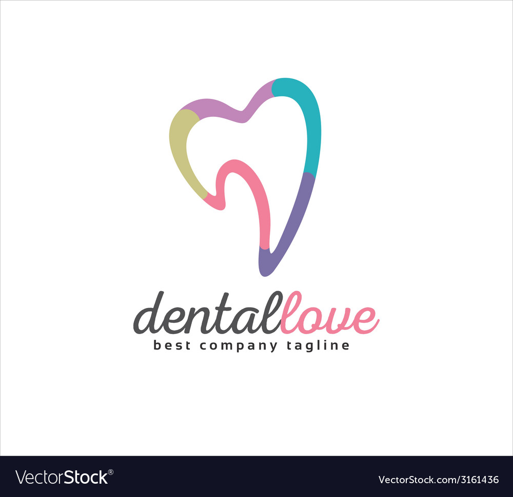 Abstract dental logo icon concept logotype vector | Price: 1 Credit (USD $1)