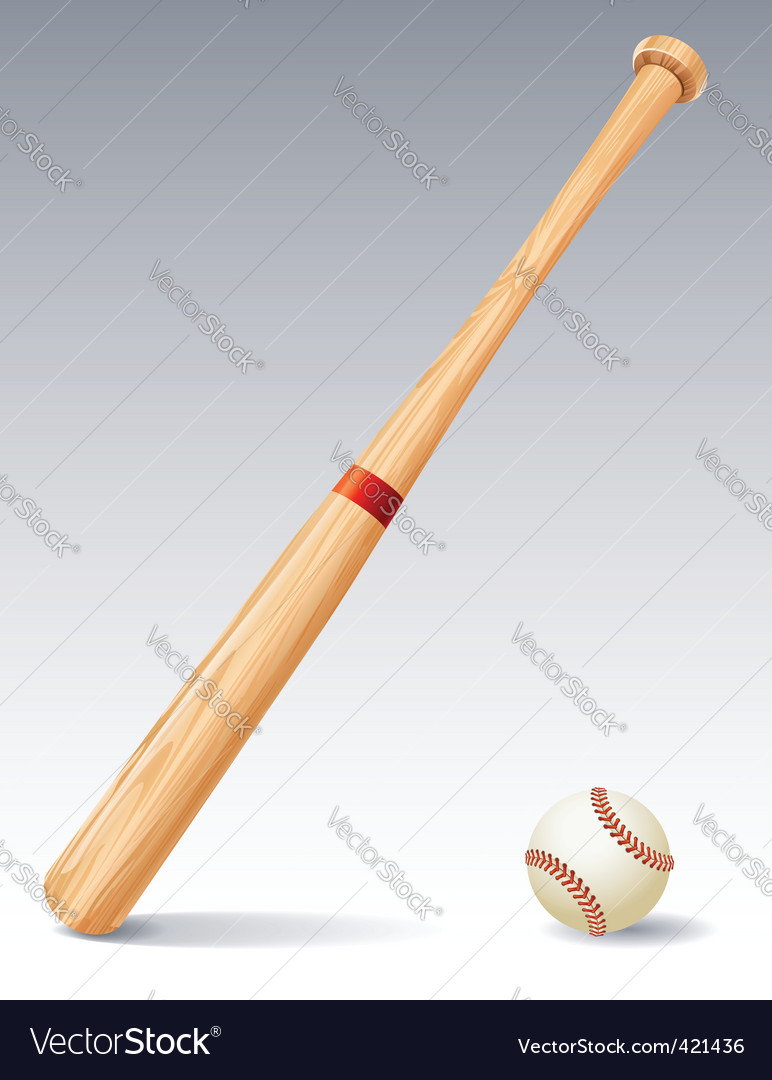 Baseball bat vector | Price: 1 Credit (USD $1)
