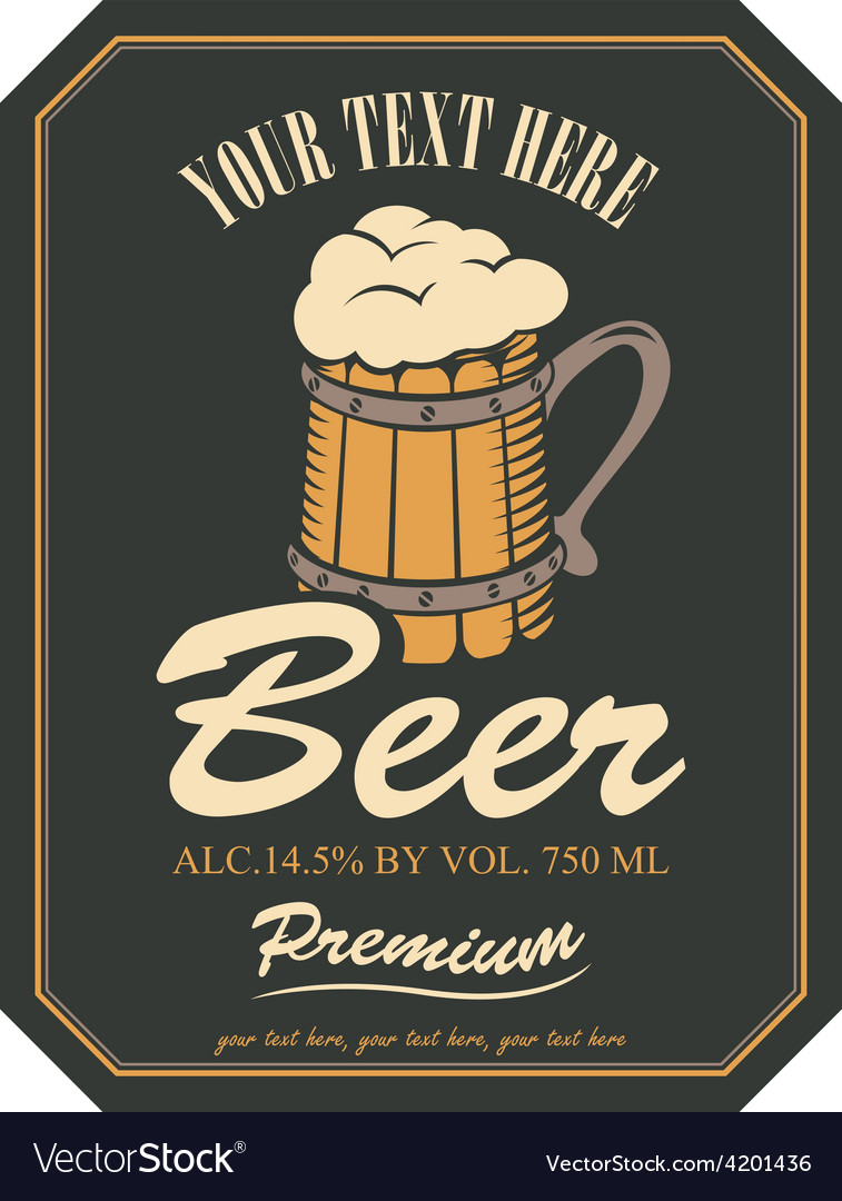 Beer label vector | Price: 3 Credit (USD $3)