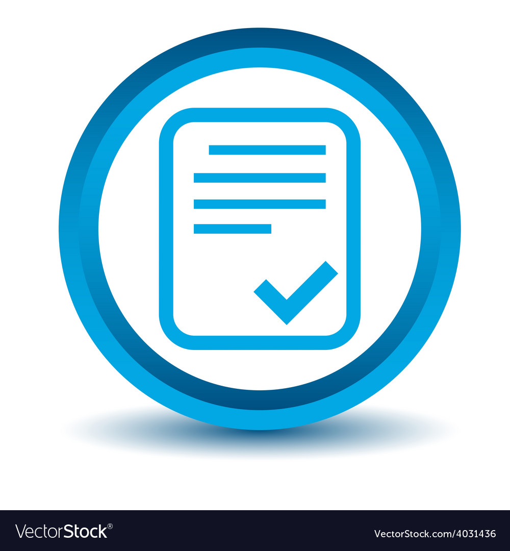 Blue document icon vector   Price: 1 Credit (USD $1)