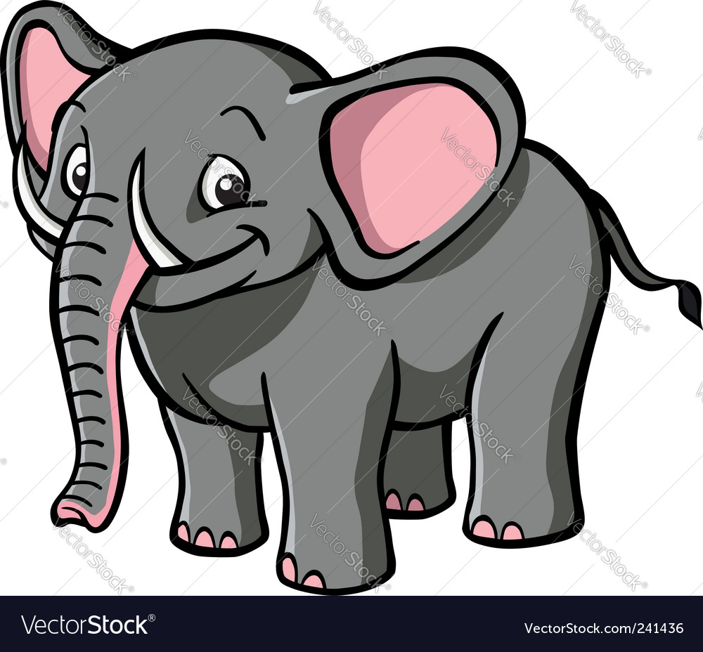 Cartoon elephant vector | Price: 3 Credit (USD $3)