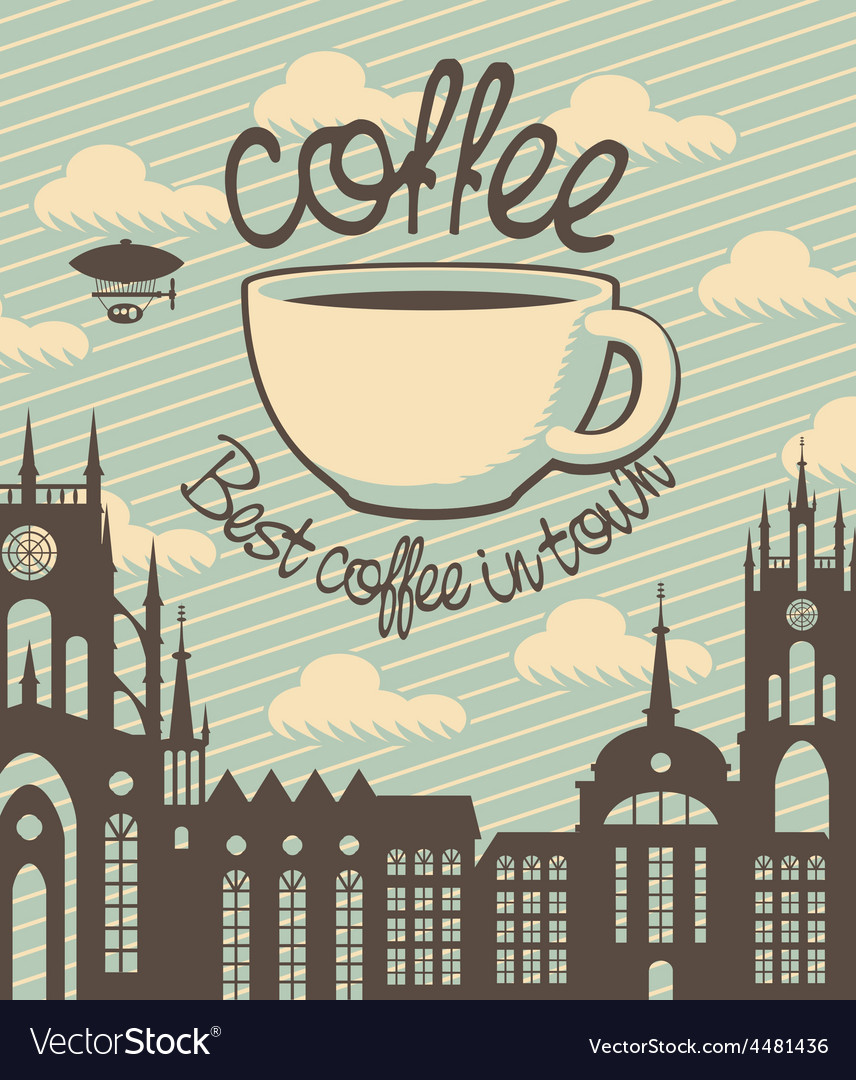 Coffee town vector | Price: 3 Credit (USD $3)