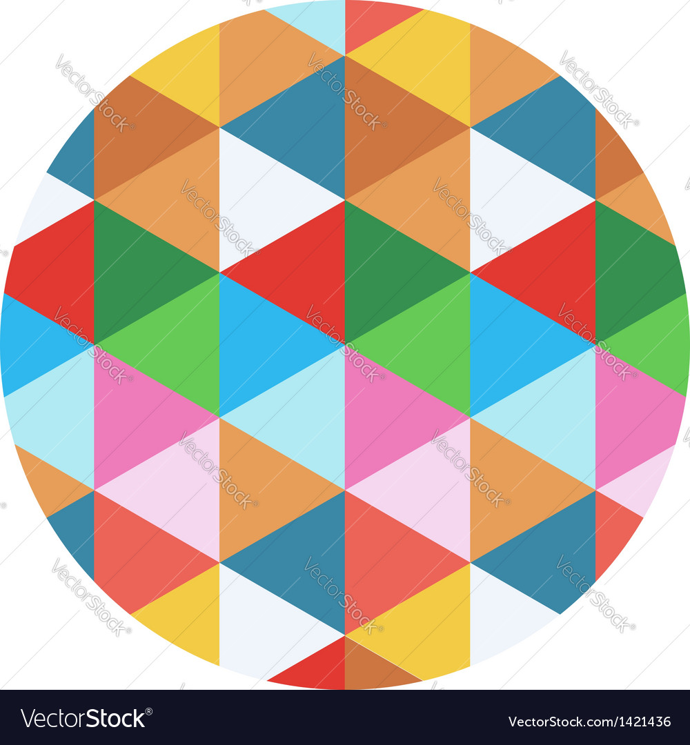 Colored geometric circle vector | Price: 1 Credit (USD $1)