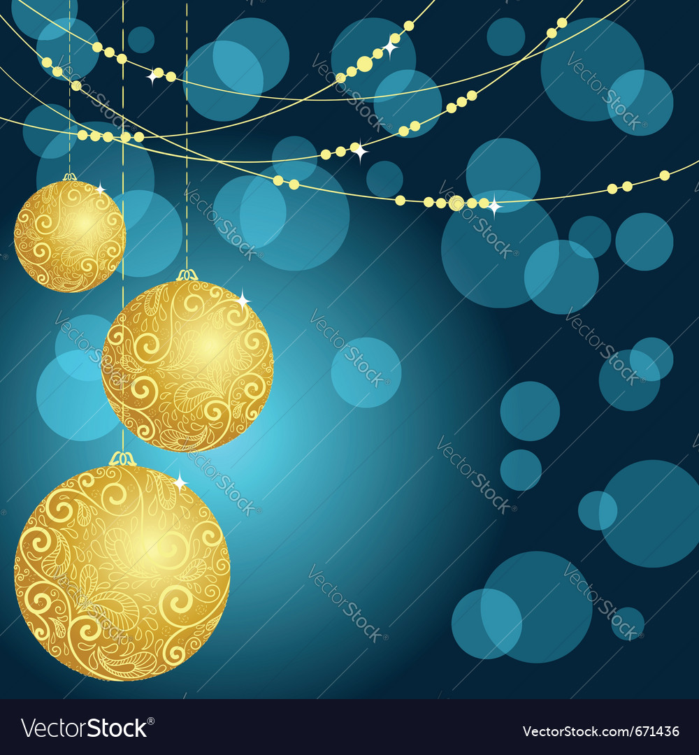 Fantasy christmas ball background vector | Price: 1 Credit (USD $1)