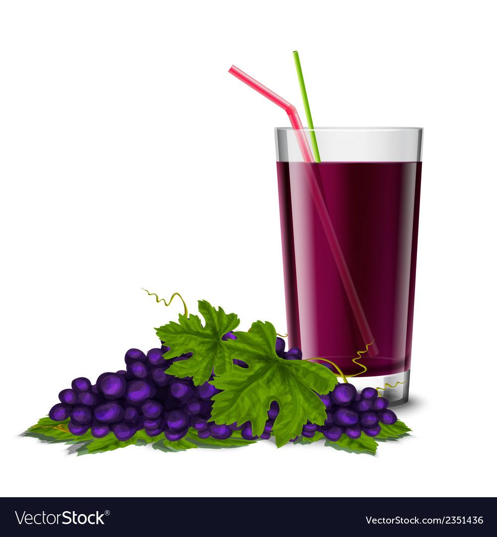 Grape juice glass vector | Price: 1 Credit (USD $1)