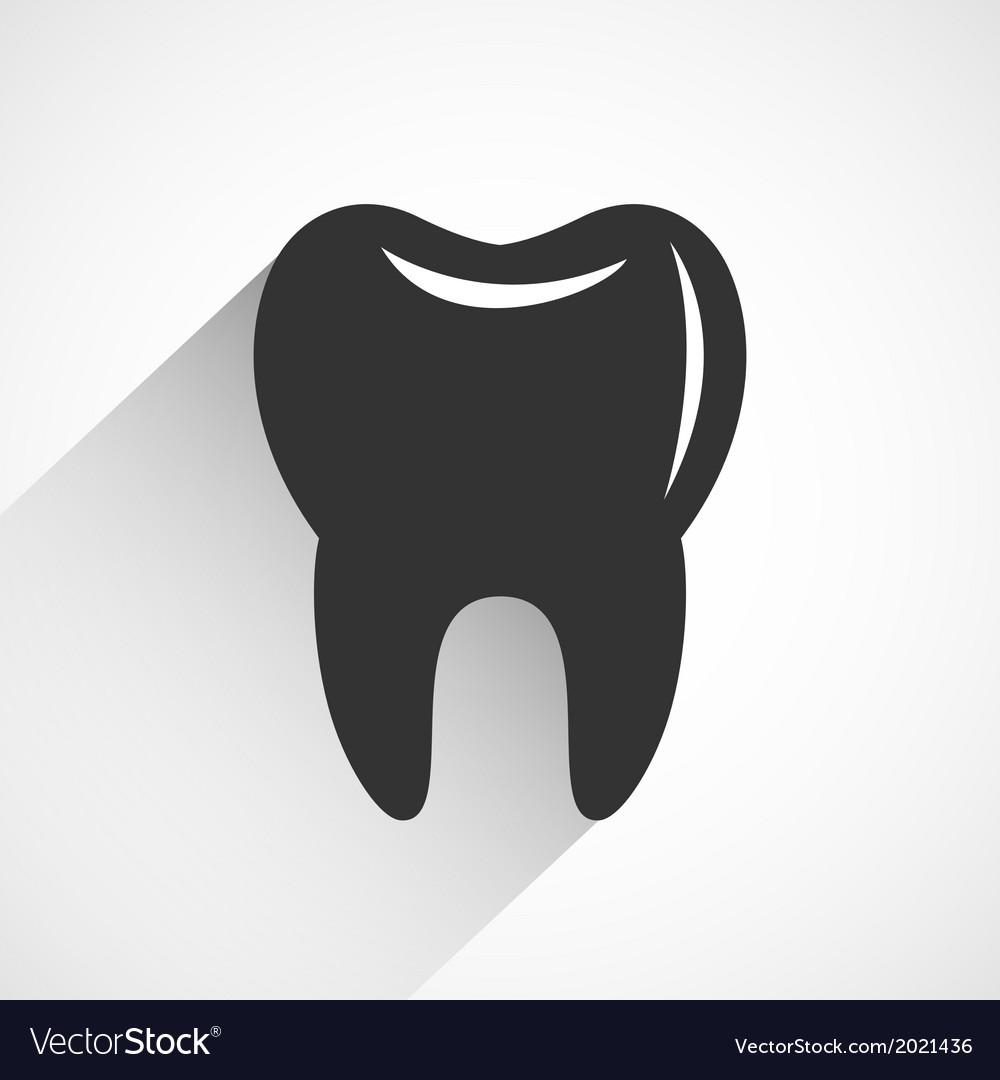 Healthy tooth icon vector | Price: 1 Credit (USD $1)
