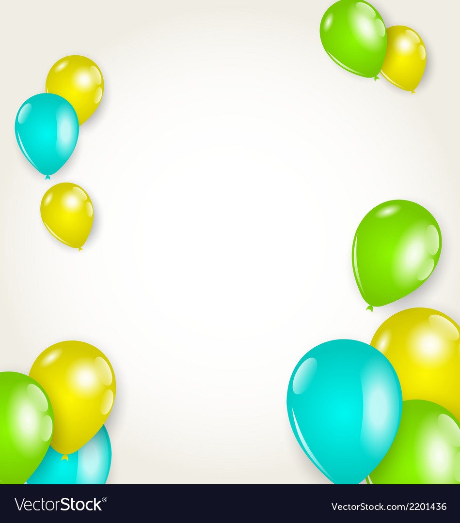 Holiday background with colorful balloons vector | Price: 1 Credit (USD $1)