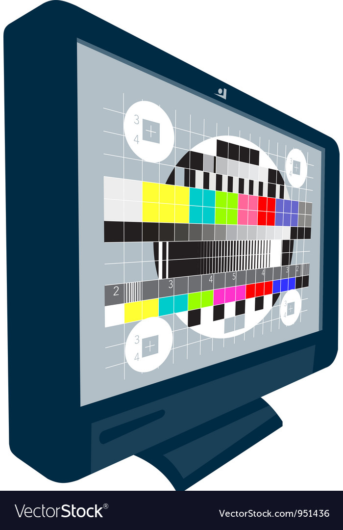 Lcd plasma tv television test pattern vector | Price: 1 Credit (USD $1)