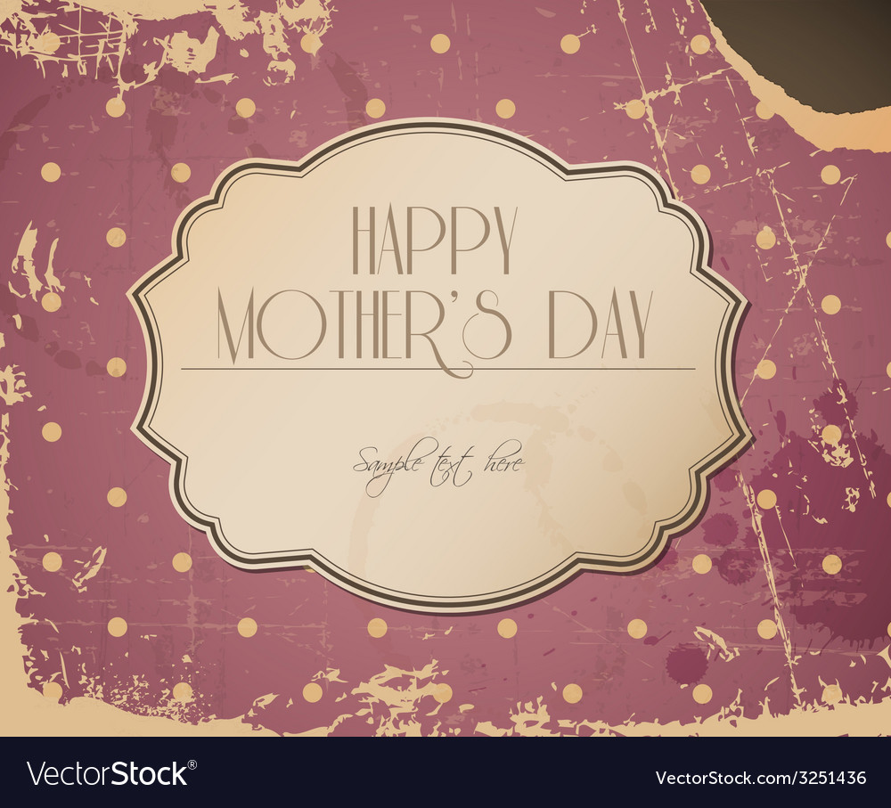 Mothers day card background vector | Price: 1 Credit (USD $1)
