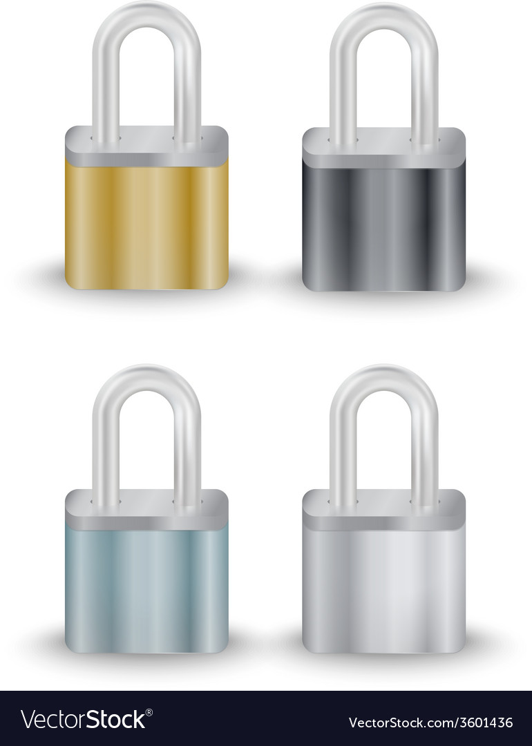 Padlock collection vector | Price: 1 Credit (USD $1)