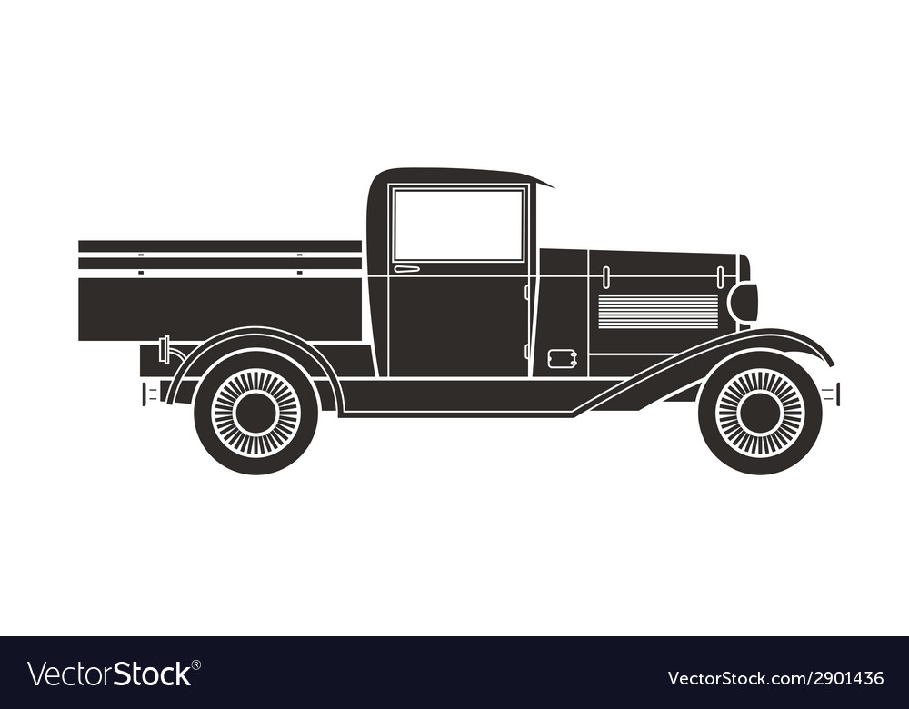 Retro pickup truck car vintage collection vector | Price: 1 Credit (USD $1)