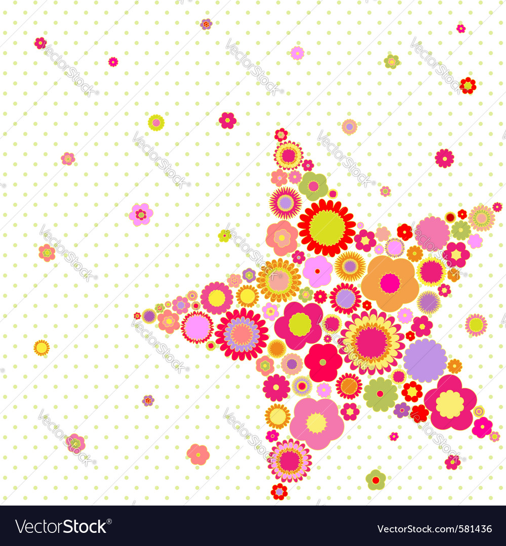 Spring summer star vector | Price: 1 Credit (USD $1)