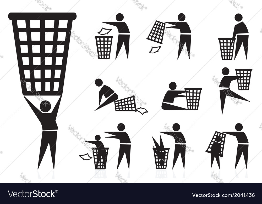 Trash icons vector   Price: 1 Credit (USD $1)