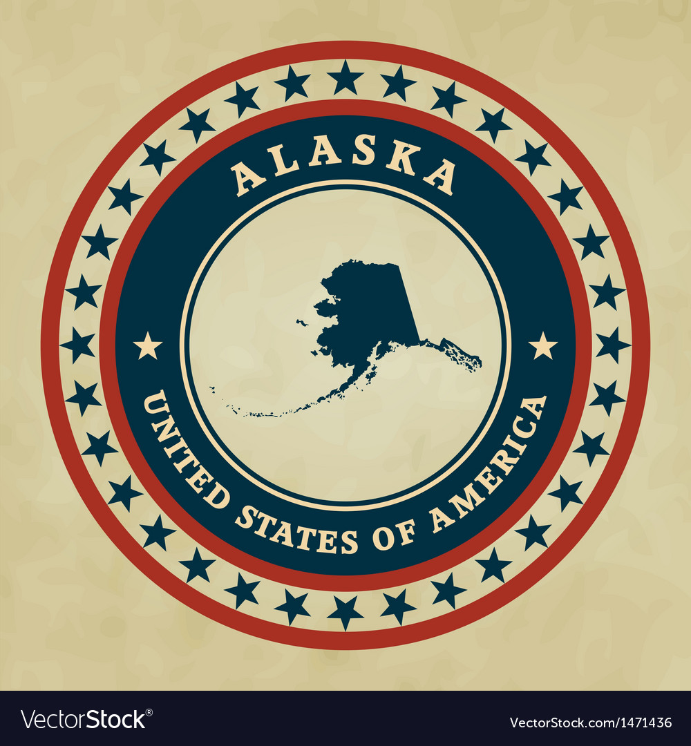 Vintage label alaska vector | Price: 1 Credit (USD $1)