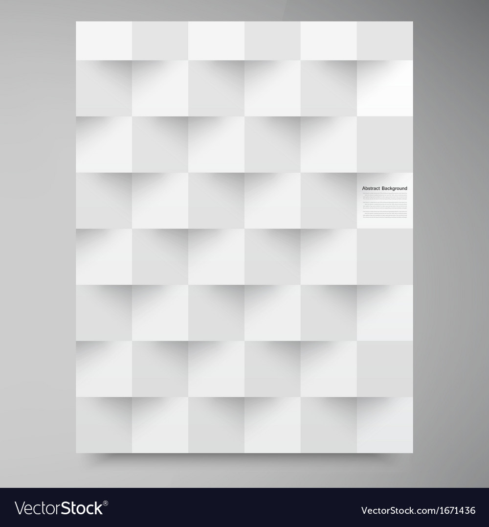 White squares abstract backround vector | Price: 1 Credit (USD $1)