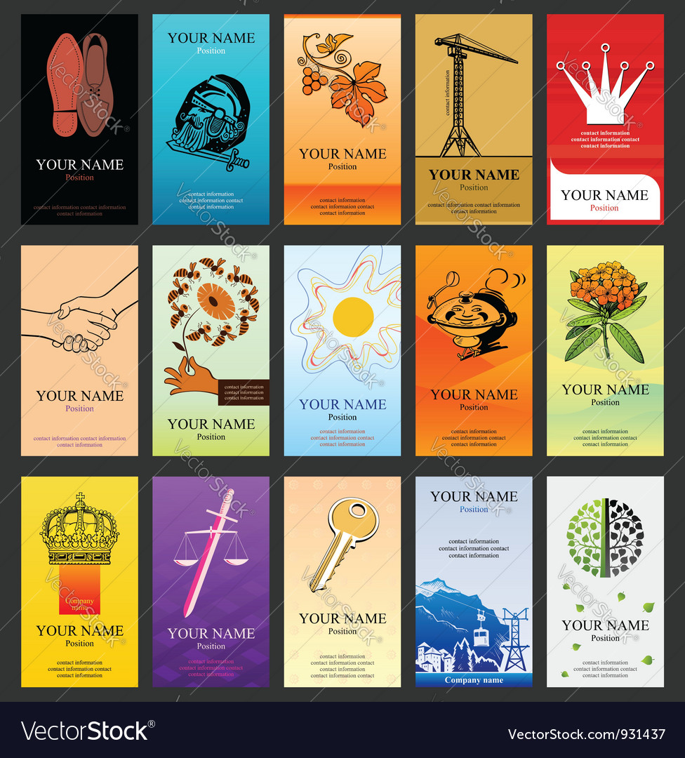 15 vertical business cards vector   Price: 3 Credit (USD $3)