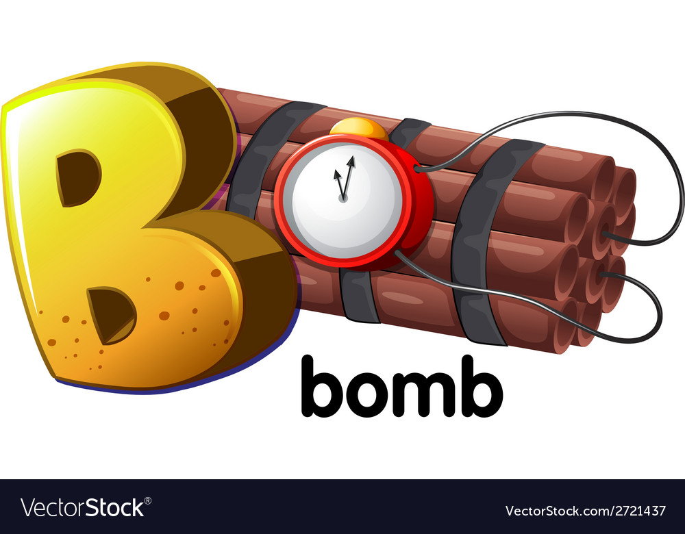 A letter b for bomb vector | Price: 1 Credit (USD $1)
