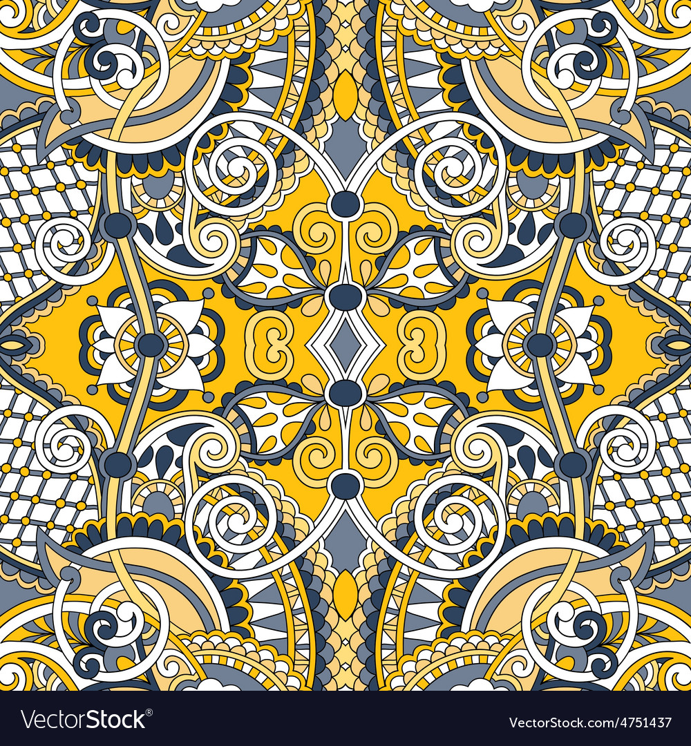 Authentic seamless floral geometric pattern vector | Price: 1 Credit (USD $1)