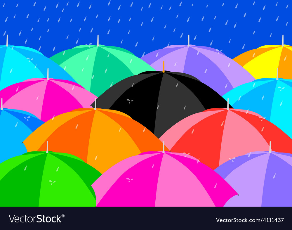 Colourful umbrellas vector | Price: 1 Credit (USD $1)