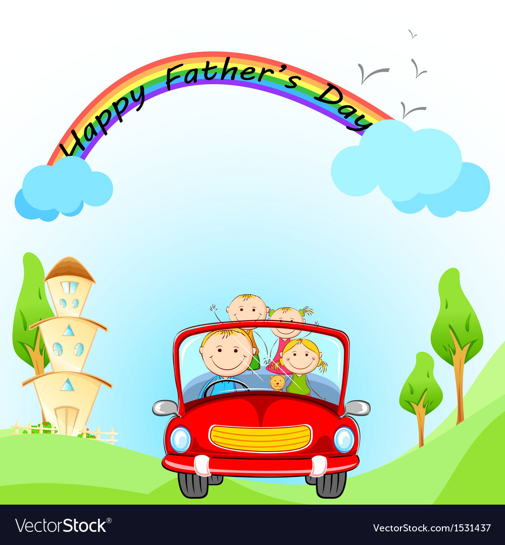Happy fathers day vector | Price: 3 Credit (USD $3)