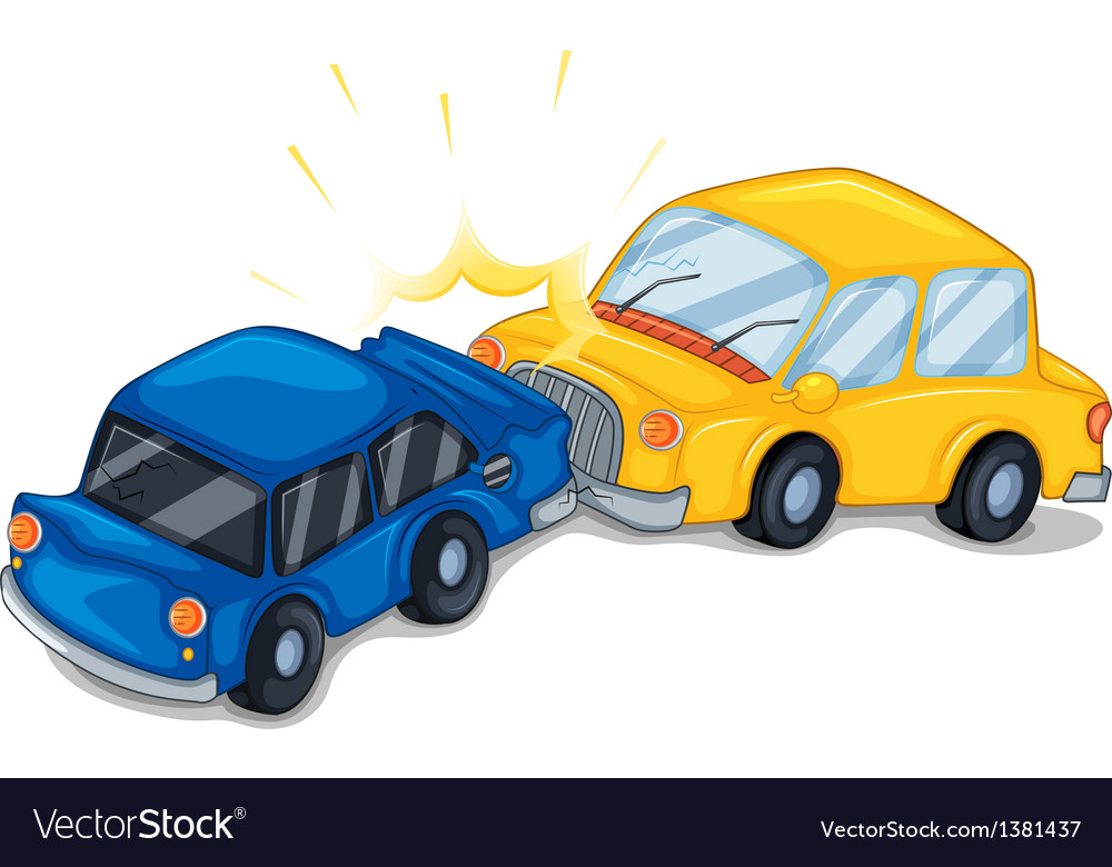 Two cars bumping vector | Price: 1 Credit (USD $1)