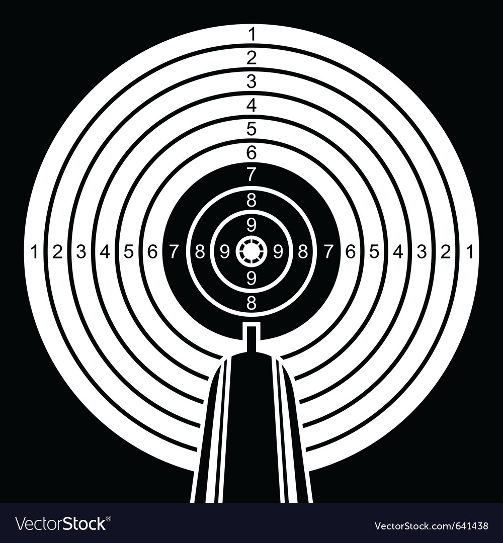 Black and white target vector | Price: 1 Credit (USD $1)