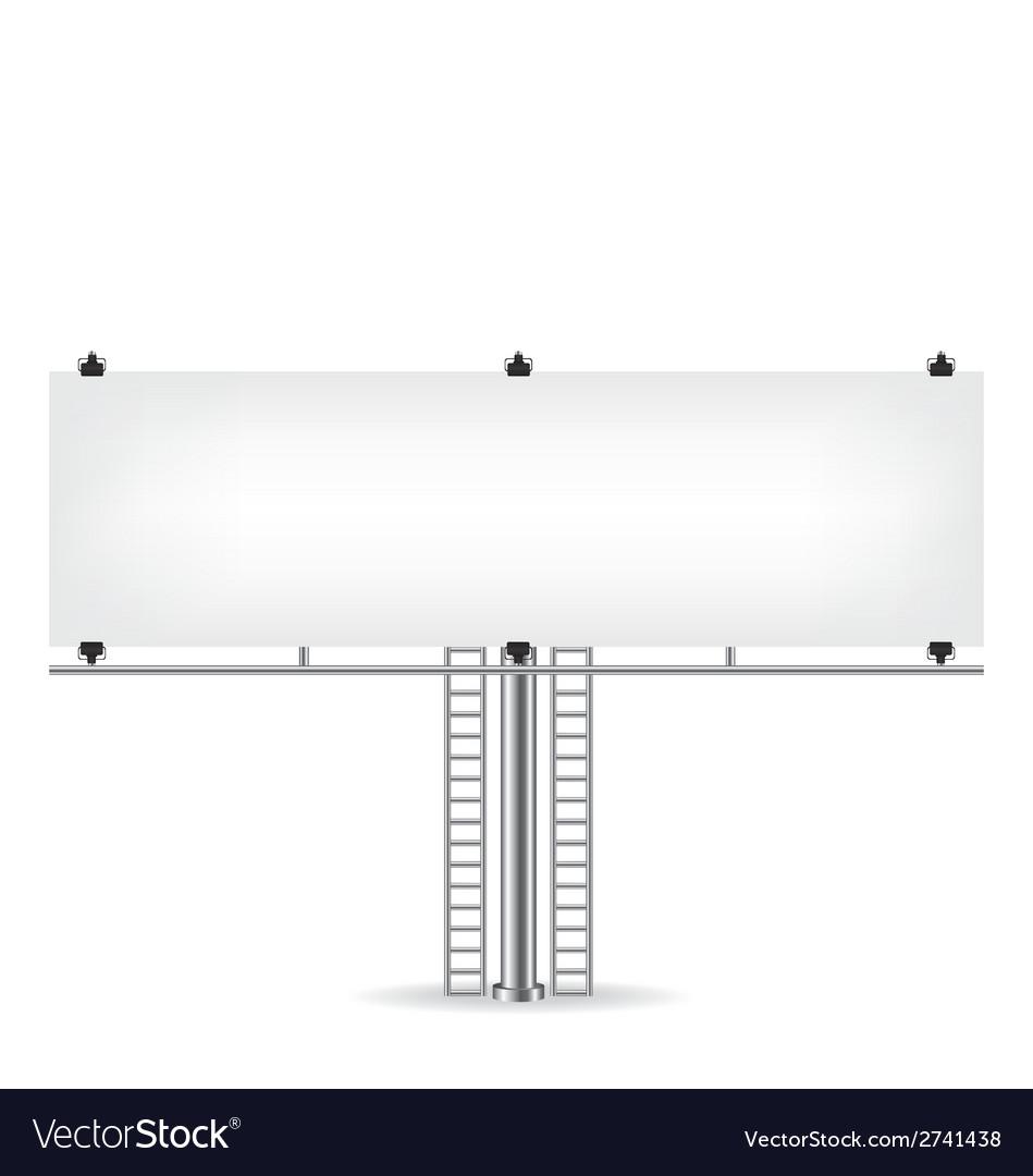 Blank metal billboard vector | Price: 1 Credit (USD $1)
