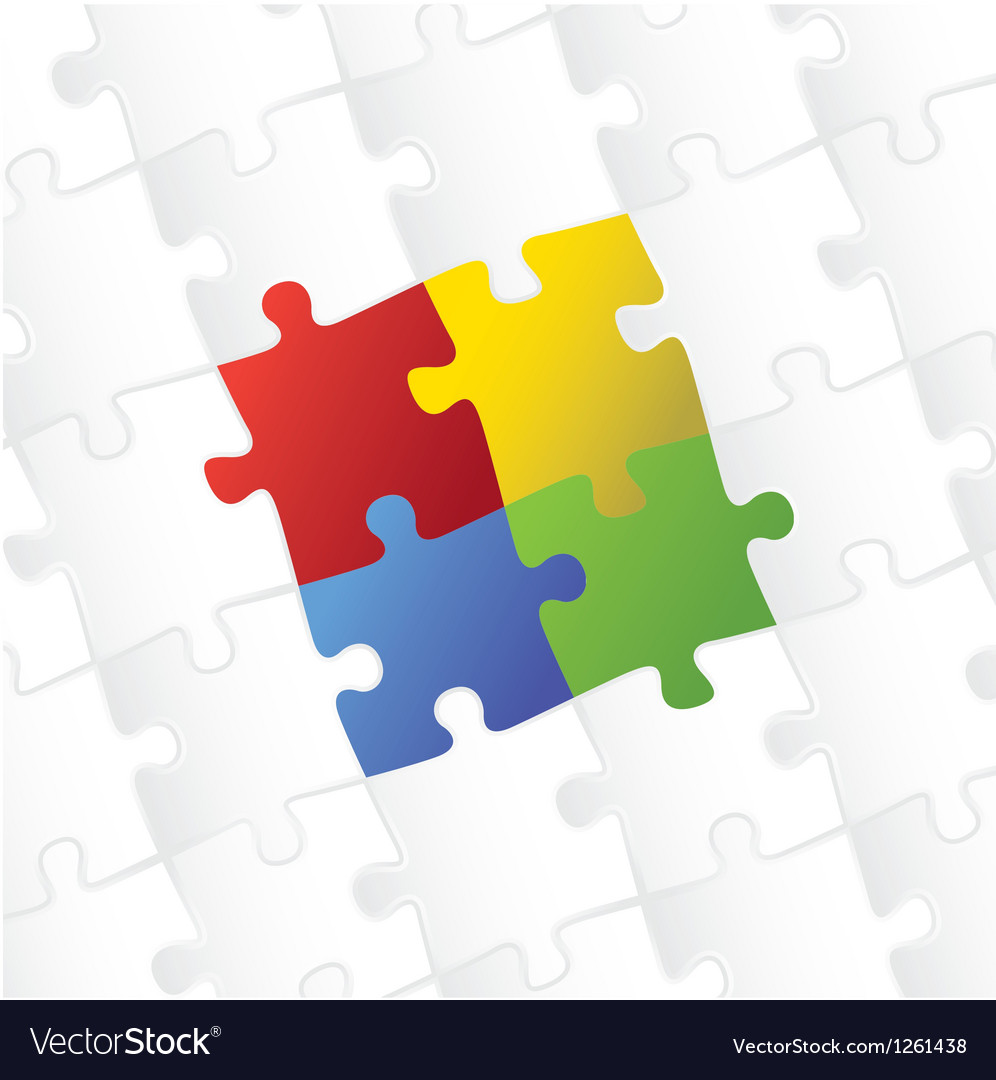 Blank puzzle template background vector | Price: 1 Credit (USD $1)