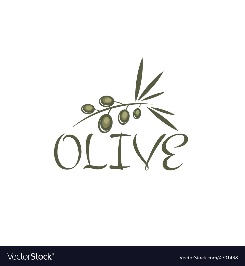 Branch of olives design template vector | Price: 1 Credit (USD $1)
