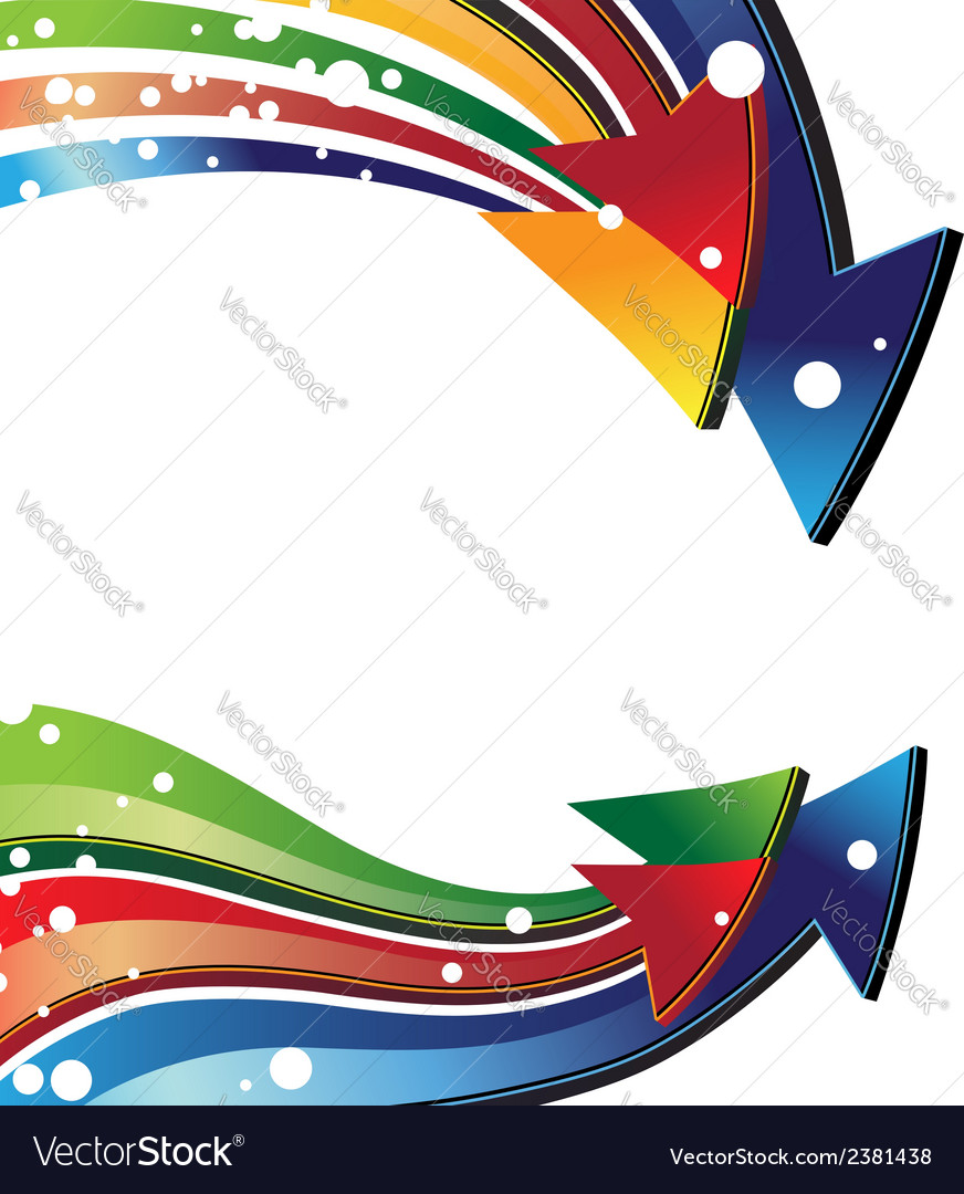 Colorful curved arrows vector | Price: 1 Credit (USD $1)
