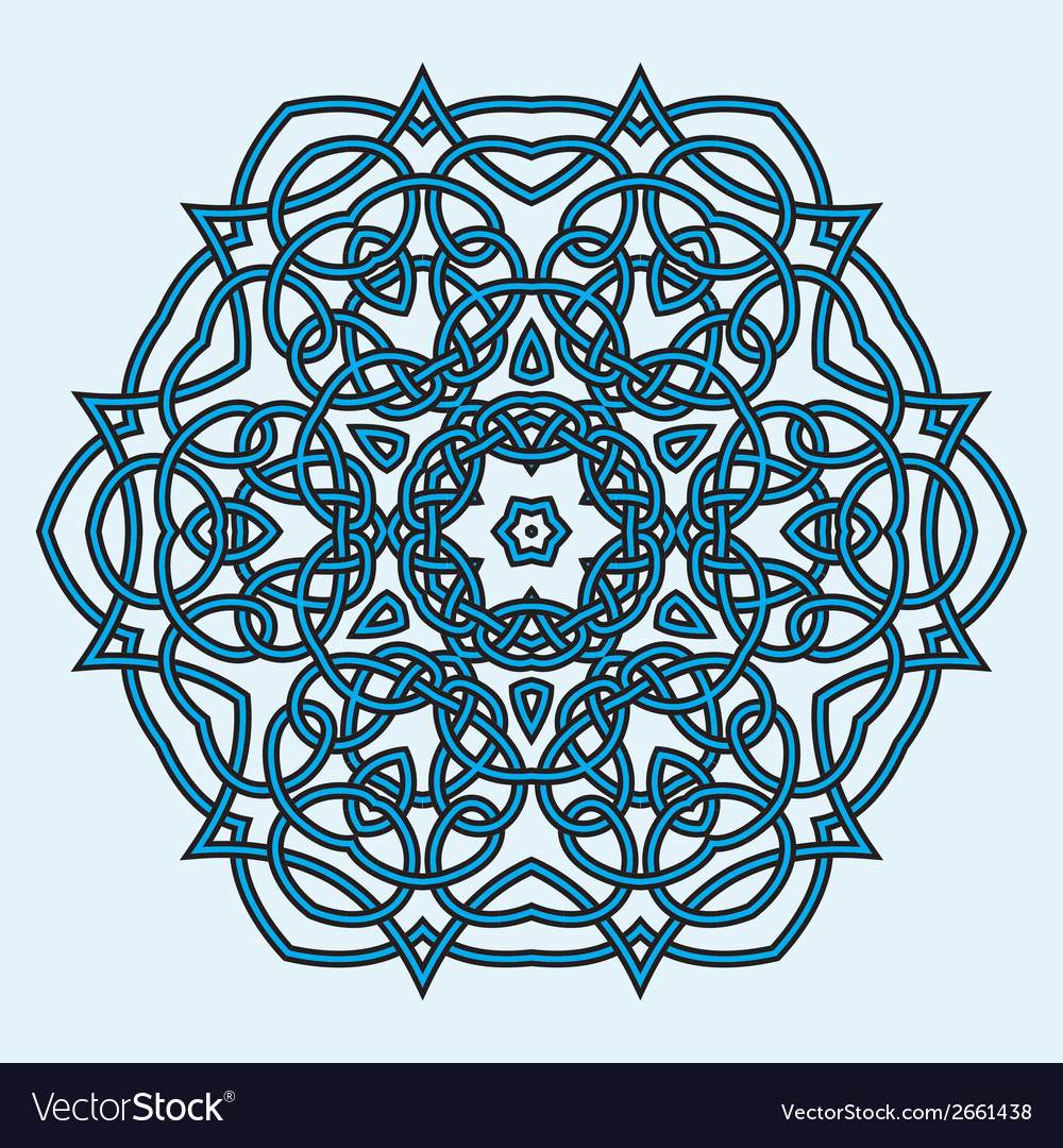 Contemporary doily round lace floral pattern vector   Price: 1 Credit (USD $1)
