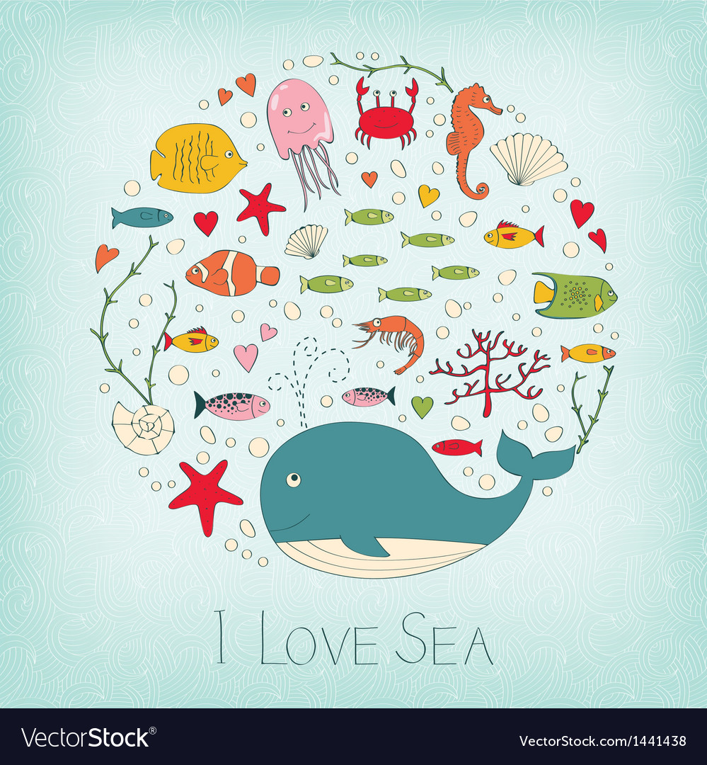 Cute marine life vector | Price: 3 Credit (USD $3)