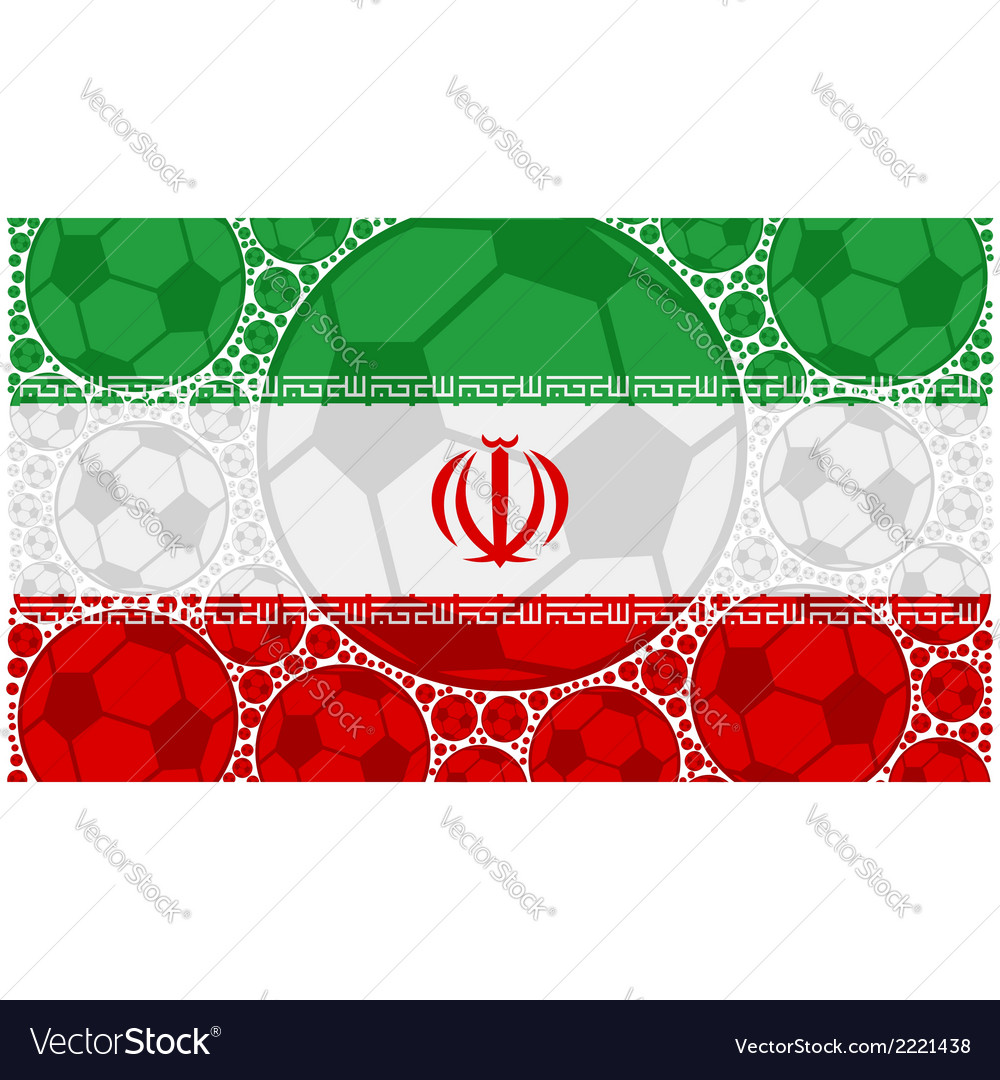 Iran soccer balls vector | Price: 1 Credit (USD $1)