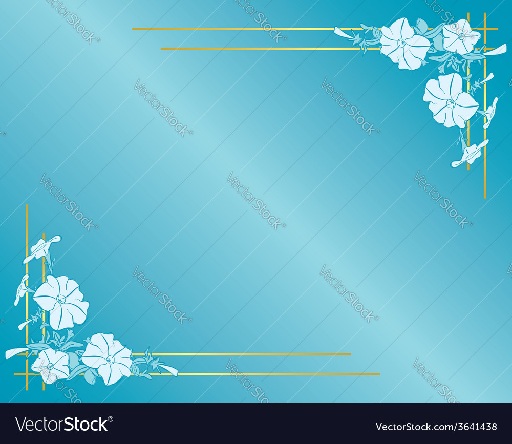 Light blue card with flowers and gradient vector | Price: 1 Credit (USD $1)