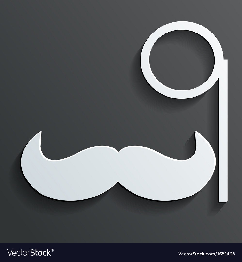 Monocle mustache vector   Price: 1 Credit (USD $1)