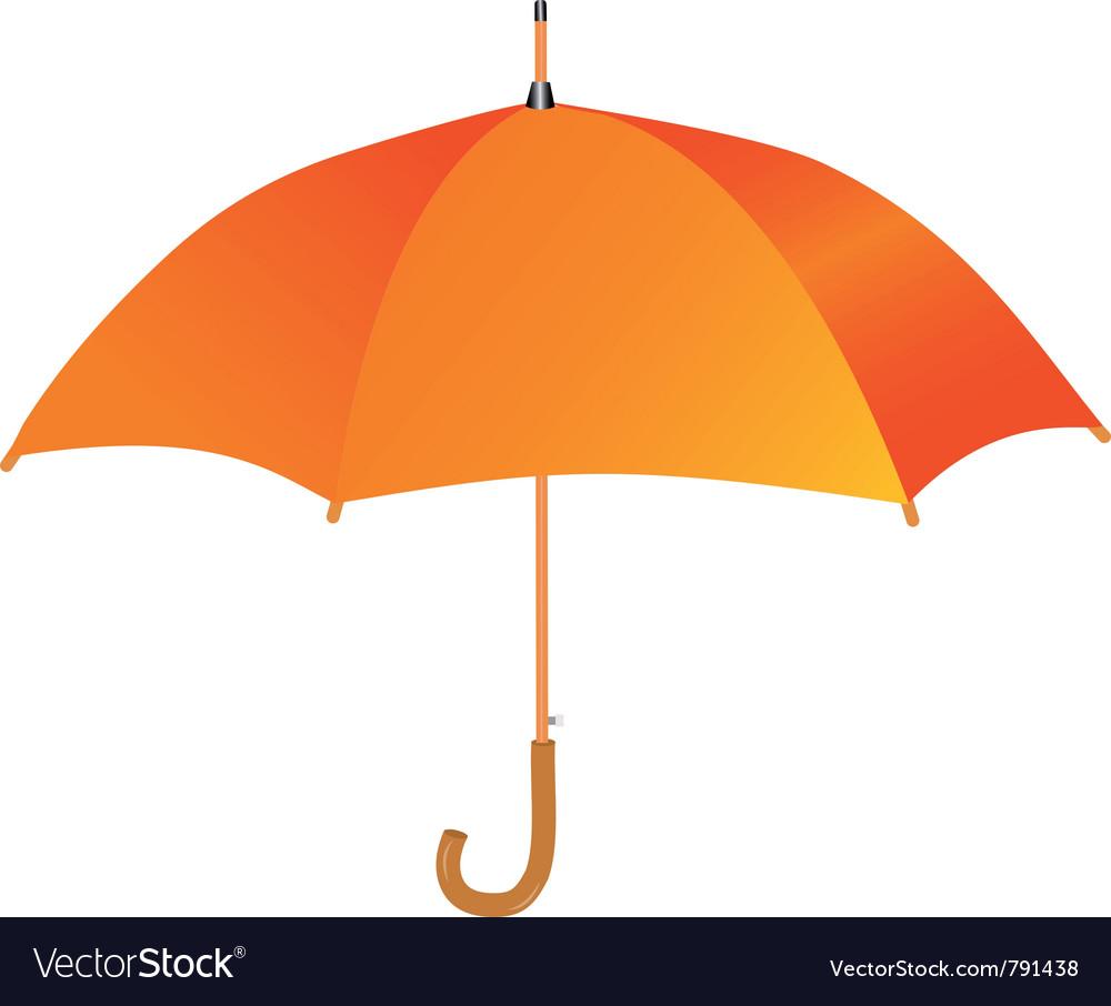 Orange umbrella icon vector | Price: 1 Credit (USD $1)