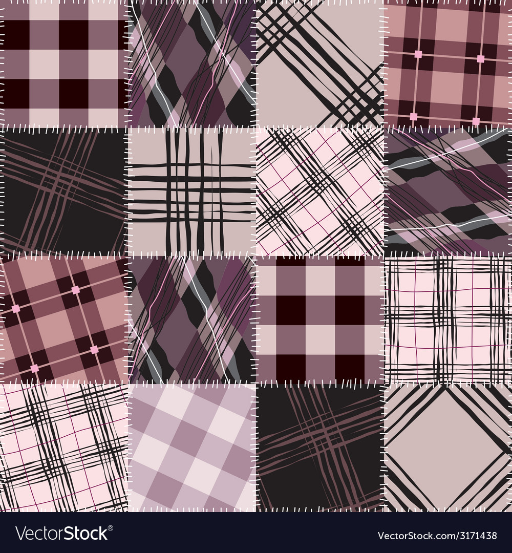 Pink checkered patchwork vector | Price: 1 Credit (USD $1)