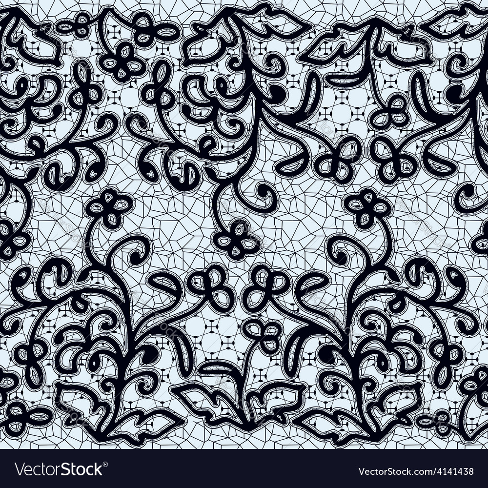 Seamless dark lace pattern vector | Price: 1 Credit (USD $1)