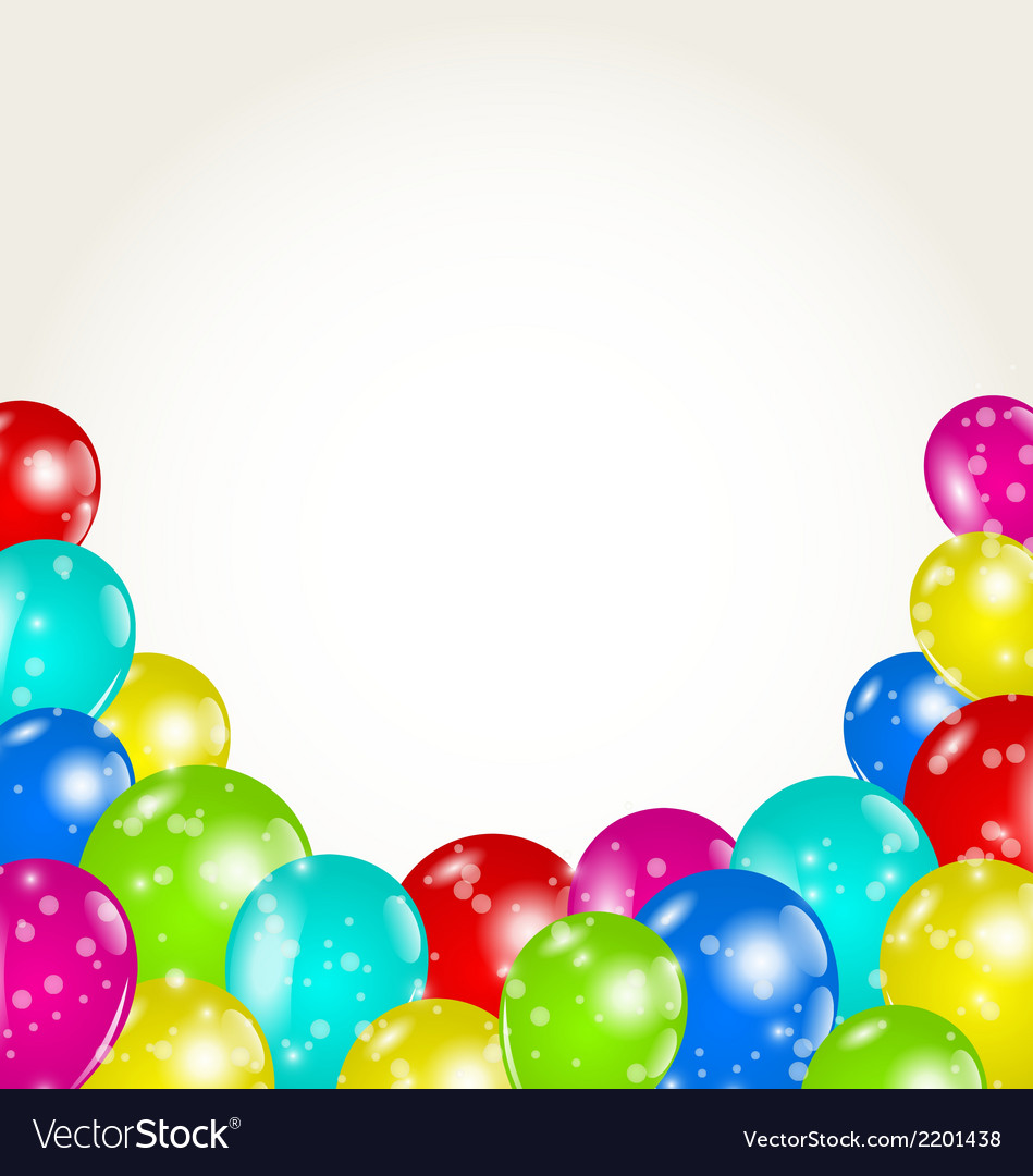 Set colorful balloons for happy birthday vector | Price: 1 Credit (USD $1)