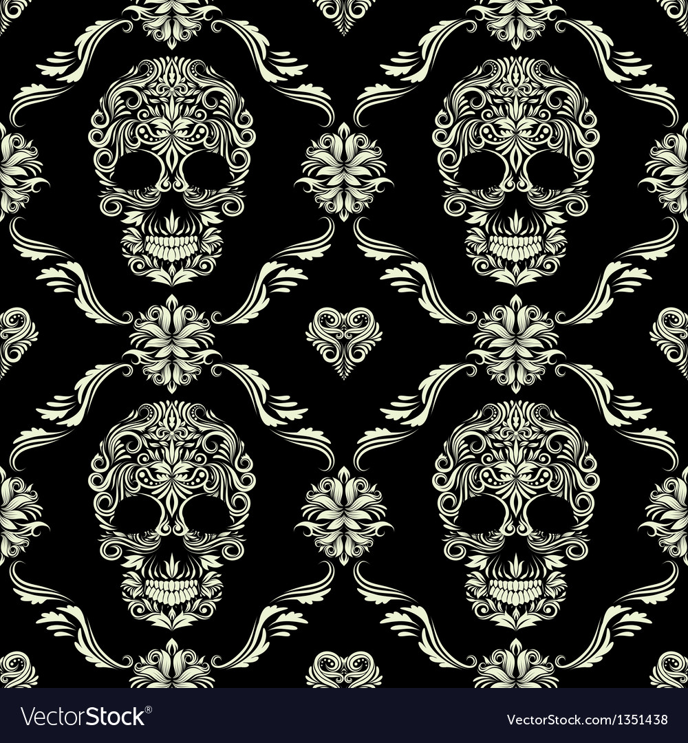 Skull ornamental pattern vector | Price: 1 Credit (USD $1)