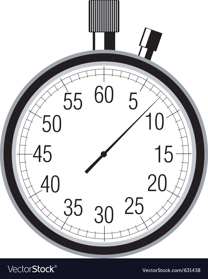 Stopwatch on white vector | Price: 1 Credit (USD $1)
