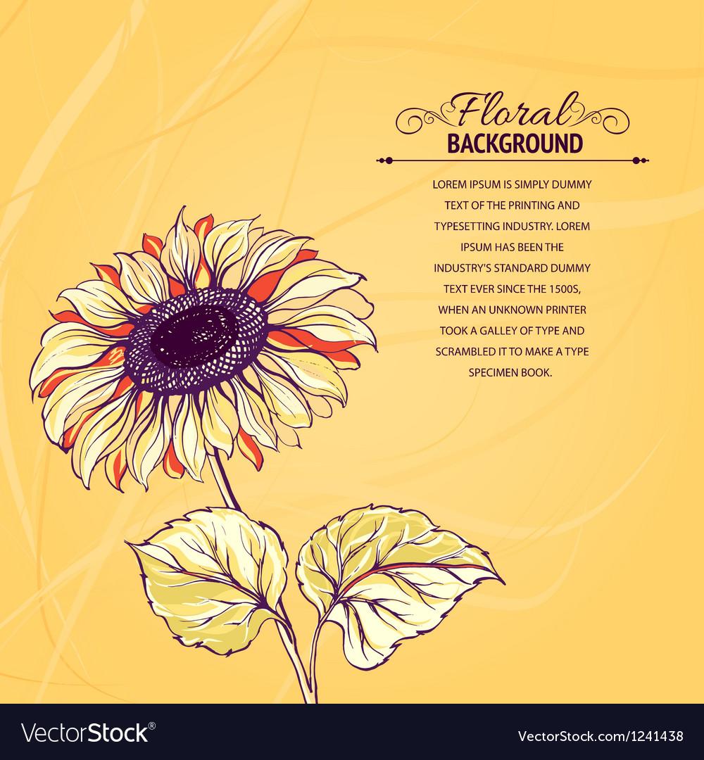 Sunflower vector | Price: 3 Credit (USD $3)