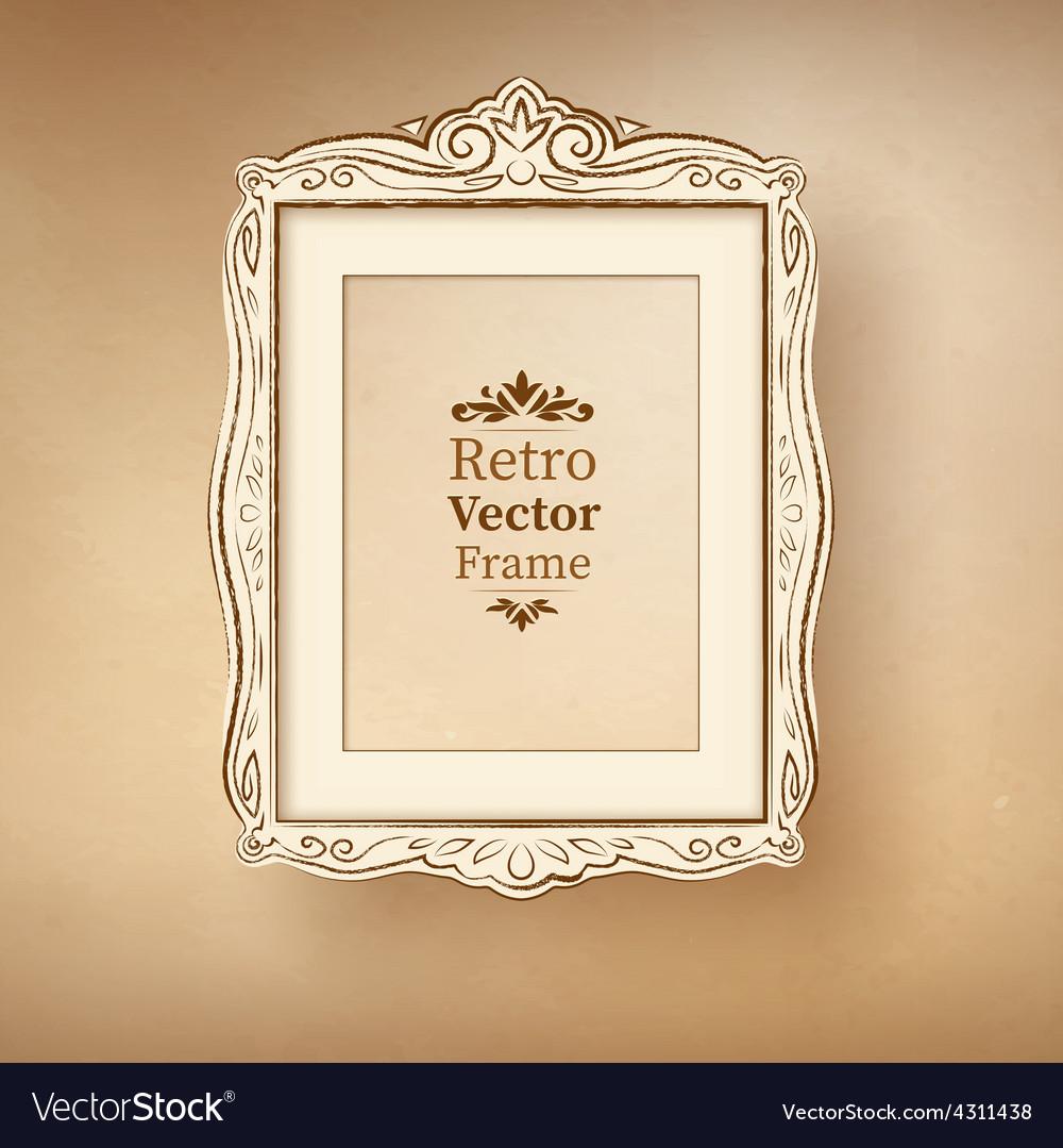Vintage baroque frame vector   Price: 1 Credit (USD $1)