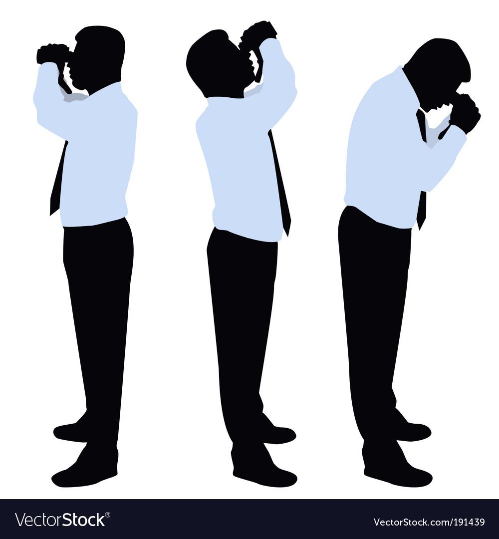 Businessman looking binoculars vector | Price: 1 Credit (USD $1)