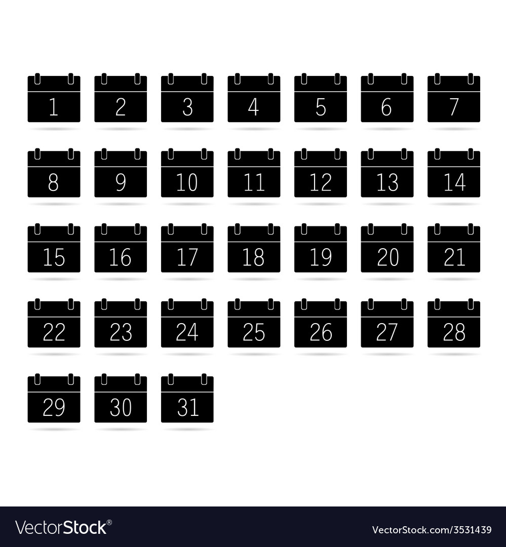 Calendar black and white vector | Price: 1 Credit (USD $1)