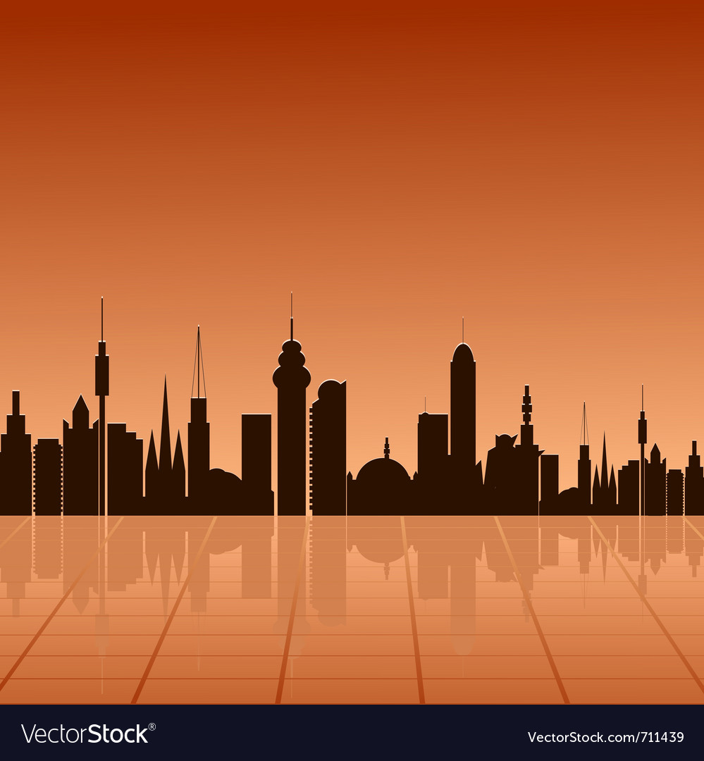 City at dawn vector | Price: 1 Credit (USD $1)