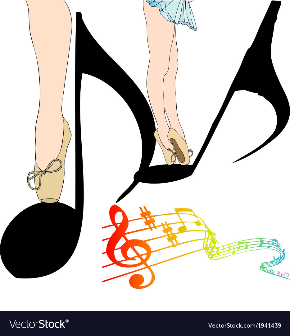 Dance of notes vector   Price: 1 Credit (USD $1)