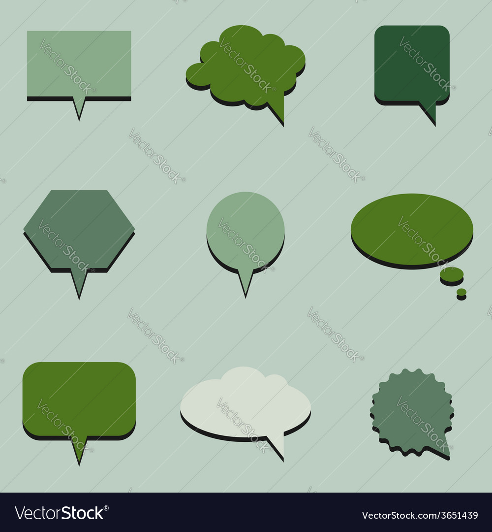 Green communication bubbles vector | Price: 1 Credit (USD $1)